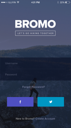 Bromo – Login Screen on Inspirationde