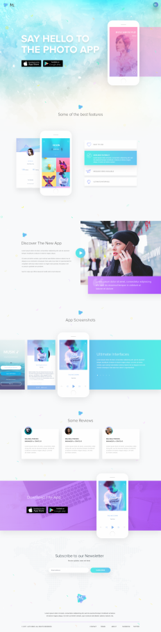 Mobile App Landing Page on Inspirationde