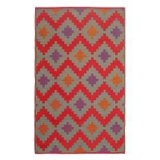 FH Home Jakarta Recycled Patio Mat in Red - Bed Bath & Beyond