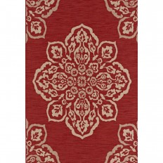 Hampton Bay Medallion Red 8 ft. x 10 ft. Indoor/Outdoor Area Rug-471851612403051 - The Home Depot