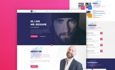 Mr. Resume Web Template - Free Resume Template | Smashresume