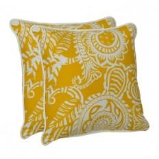 Yellow Paisley Outdoor Pillows, Set of 2 | Kirklands