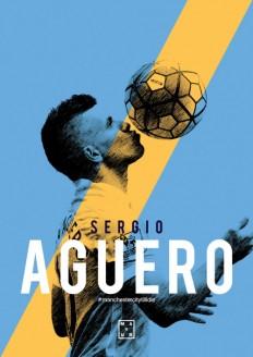 Sergio Aguero Poster Design on Inspirationde