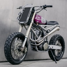 the husqvarna TE570 custom motorcycle by motomucci