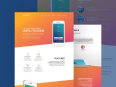 Akira Landing Page PSD Template - Free Download | Freebiesjedi