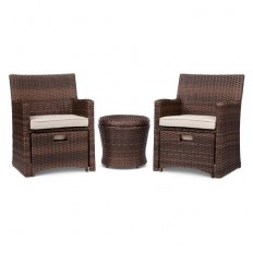 Halsted 5-Piece Wicker Small Space Patio Furniture Set - Threshold? : Target