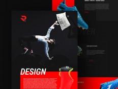 Reekters Colorful PSD Web Template - Free Download | Freebiesjedi