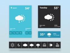 Flat Weather Widget PSD - Free Download | Freebiesjedi