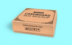 Realistic Cardboard Box Mockup - Free Download | Freebiesjedi
