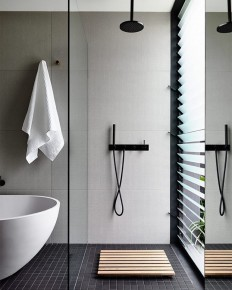 The light and airy bathroom on Inspirationde
