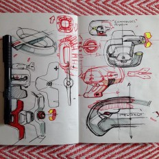 "A R T H U R C O U D E R T on Instagram: ""Sketchbook page just for fun #cardesign #sketchbook #pensketch #doodle"""