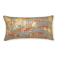 Gilded Tiger Silk Lumbar Pillow Cover, Rust/Gold | Williams Sonoma