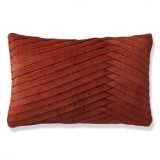 Pleated Velvet Pillow Cover, Bossa Nova | Williams Sonoma