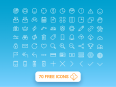 70 Free Multi Purpose Line Icons - Free Download | Freebiesjedi