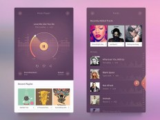 Android Music Player UI - Free Download | Freebiesjedi