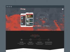 Cinemapp : Mobile App Landing Page Template - Free Download | Freebiesjedi