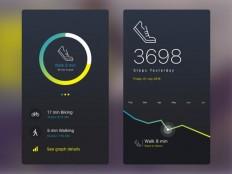 Fitness Tracker UI Design - Free Download   Freebiesjedi