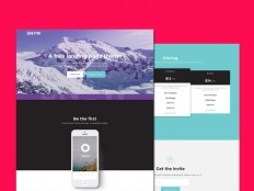 Snow : Free Bootstrap Landing Page Template - Free Download | Freebiesjedi