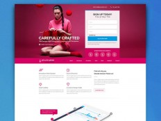Startuprr : Startup PSD Landing Page Template - Free Download | Freebiesjedi