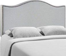 Modway Furniture Curl Twin Nailhead Upholstered Headboard, Ivory - Transitional - Headboards - by ShopFreely