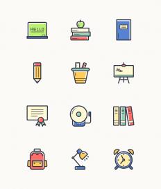 Back to School Icon Set - Free Download | Freebiesjedi