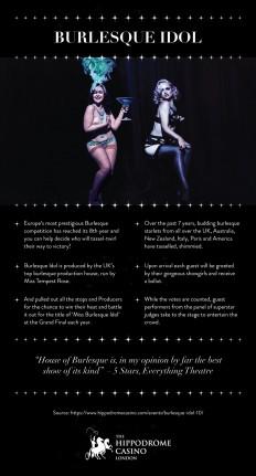 Burlesque Idol | Visual.ly
