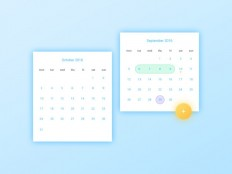 Date Picker UI PSD Design - Free Download | Freebiesjedi