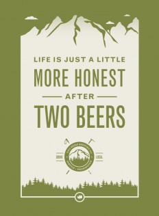 Two Beers Brewing Co : Poster on Inspirationde