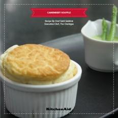 Truffled Camembert Souffle Asparagus emulsion