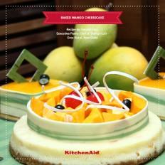 Baked mango and passionfruit cheesecake recipe