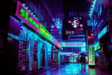 I take cyberpunk shots around Seoul : korea