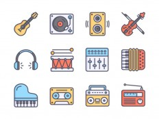 5 Free Music Icon Sets for Your Interface Project - Smashzine - Smashzine