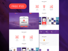 Neuzort - PSD Landing Page Template - Free Download | Freebiesjedi