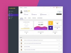 CRM Dashboard UI Template - Free Download | Freebiesjedi