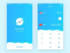 Currency Mobile App UI Design - Free Download | Freebiesjedi