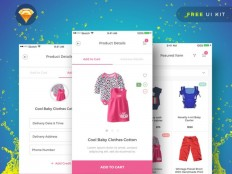 BabyPink : Free Sketch Ecommerce UI Kit - Free Download | Freebiesjedi