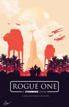 Star Wars Posters – Minimalist Rogue One on Inspirationde