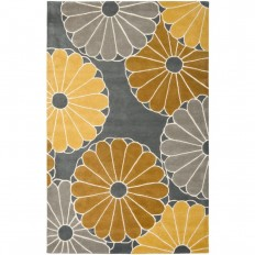 Safavieh Soho Grey/Yellow 7 ft. 6 in. x 9 ft. 6 in. Area Rug - SOH705A-8 - The Home Depot