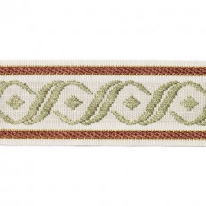 """Duralee Trim 7300-685 2"""" Tape - Jacquard Red/Clay – Inside Stores"""
