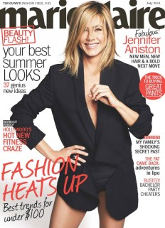 Jennifer Aniston with Jason Bateman, Jason Sudeikis and Charlie Day in US Marie Claire July Issue on Inspirationde