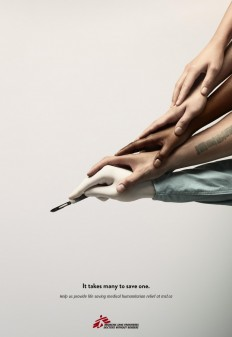 Doctors Without Borders Print Advert By John St: Scalpel on Inspirationde