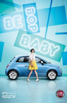 FIAT 500 'BE BOP BABY', 'Pop' and 'Kicks!' By Max Oppenheim on Inspirationde