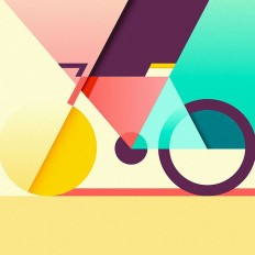 Colorful and geometrical piece of art by award winning illustrator @ray_oranges on Inspirationde