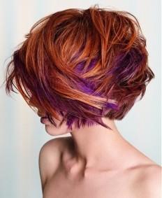 25+ best ideas about Purple hair streaks on Pinterest   Purple streaks, Colored highlights and Streaks hair colour