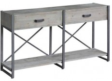 Iron Junction 2 Drawer Metal and Wood Rustic Console - Industrial - Console Tables - by Zeckos