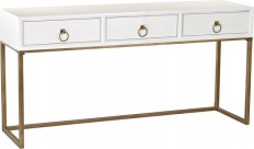 Sterling Industries White and Gold Console - Transitional - Console Tables - by Zeckos