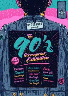 90'z Screenprint Exhibition on Inspirationde