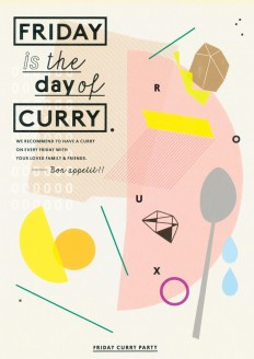 FRIDAY is the day of CURRY : Poster Design on Inspirationde