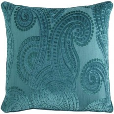 Baroque Paisley Teal Pillow