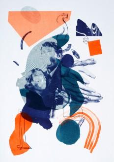 Orange and Blue illustration on Inspirationde